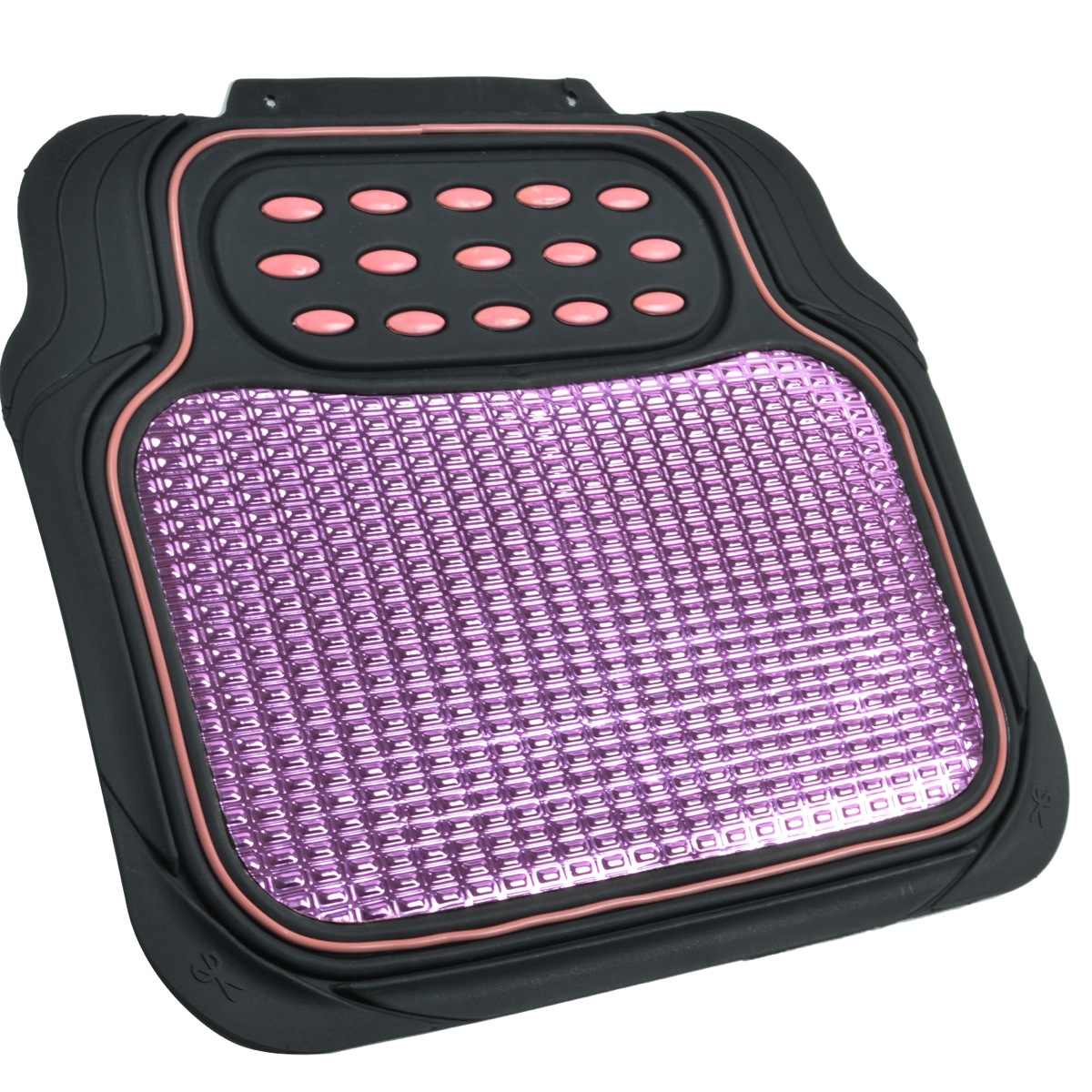 Rubber floor mats suv - Pink And Black Metallic Design Rubber Floor Mats