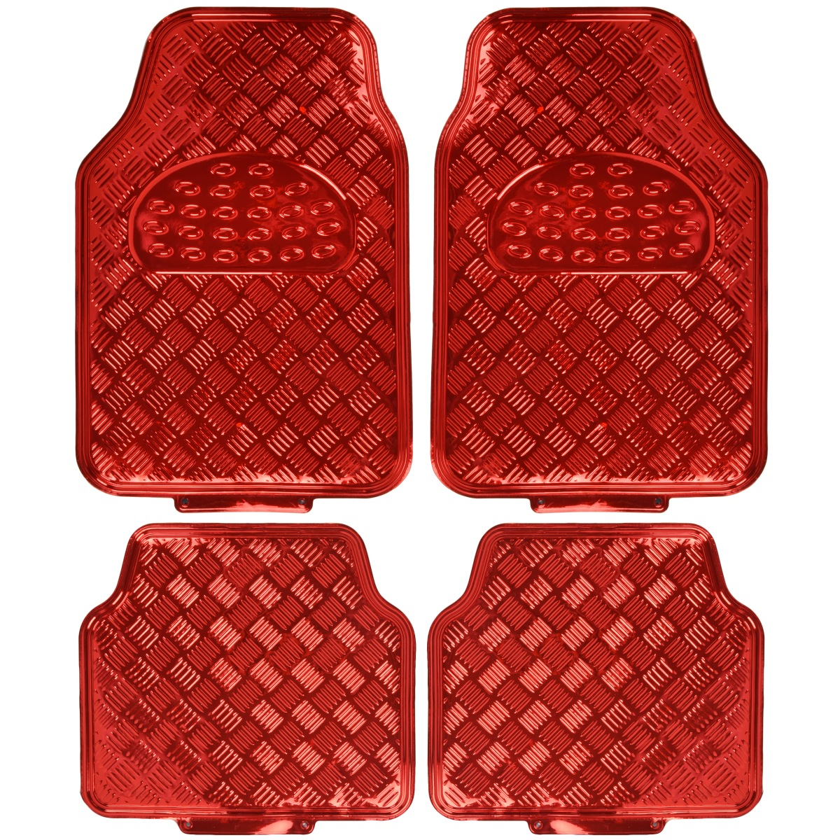 Rubber mats ebay - Image Is Loading Red Metallic Rubber Floor Mats Set 4pc Car