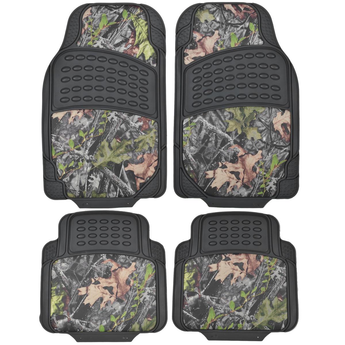 Rubber floor mats acura rdx - 4 Piece Two Tone Camo Rubber Floor Mats All Weather Waterproof Protection