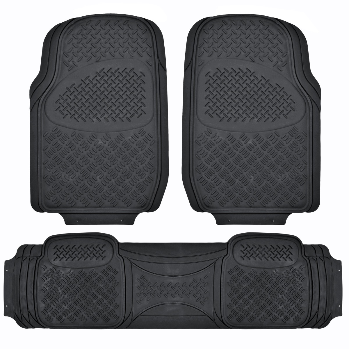 Suv Floor Mat For 3 Row Car All Weather Black Trimmable