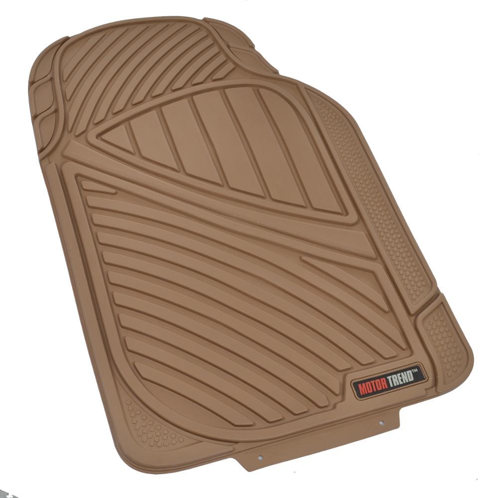 Motor trend max duty van truck floor mats beige odorless for 1 piece floor mats trucks