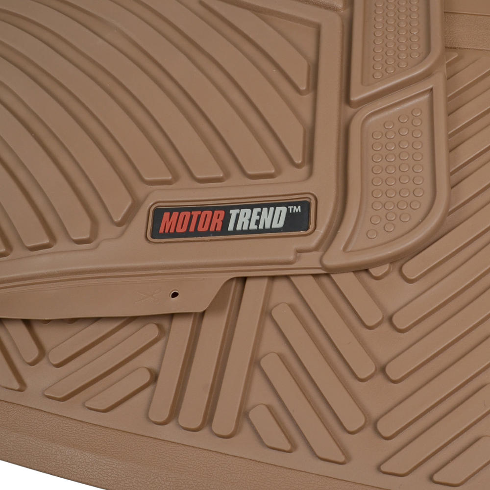 Motor trend max duty van truck floor mats beige odorless for Motor trend floor mats review