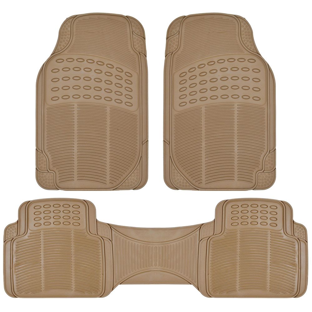 Van Suv Rubber Floor Mats 3 Row W Cargo Mat All Weather