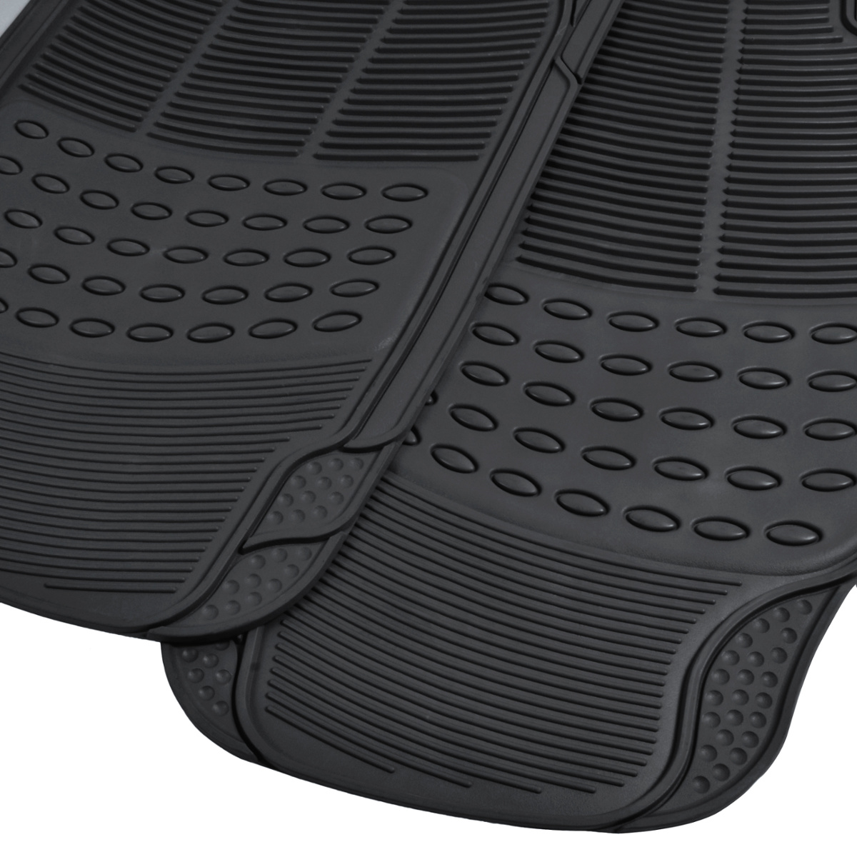 Rubber floor mats toyota rav4 - Rubber Liner For Toyota Rav4 Floor Mats Black 3 Pc Semi Custom Fit All Weather