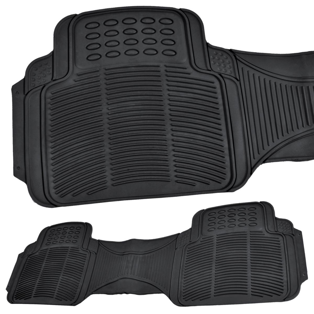 Rubber floor mats rav4 - Rubber Liner For Toyota Rav4 Floor Mats Black 3 Pc Semi Custom Fit All Weather