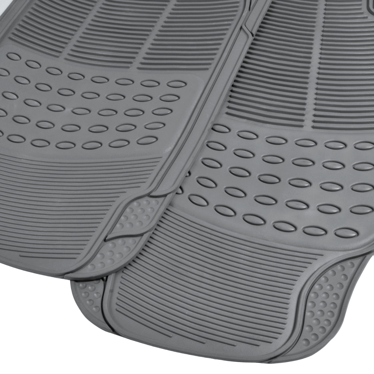 Rubber floor mats toyota rav4 - Rubber Liner For Toyota Rav4 Floor Mats Gray 3 Pc Semi Custom Fit All Weather