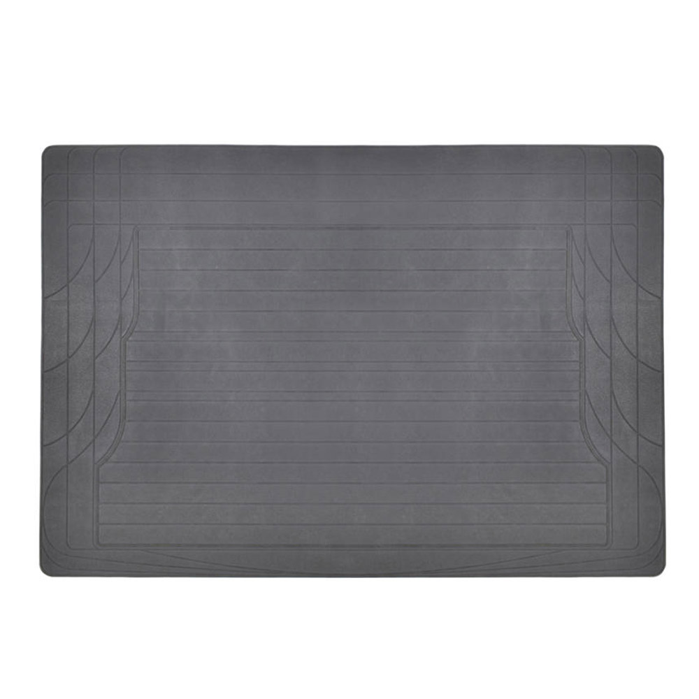 Bdk All Weather Floor Rubber Mats W Cargo Trunk Gray For