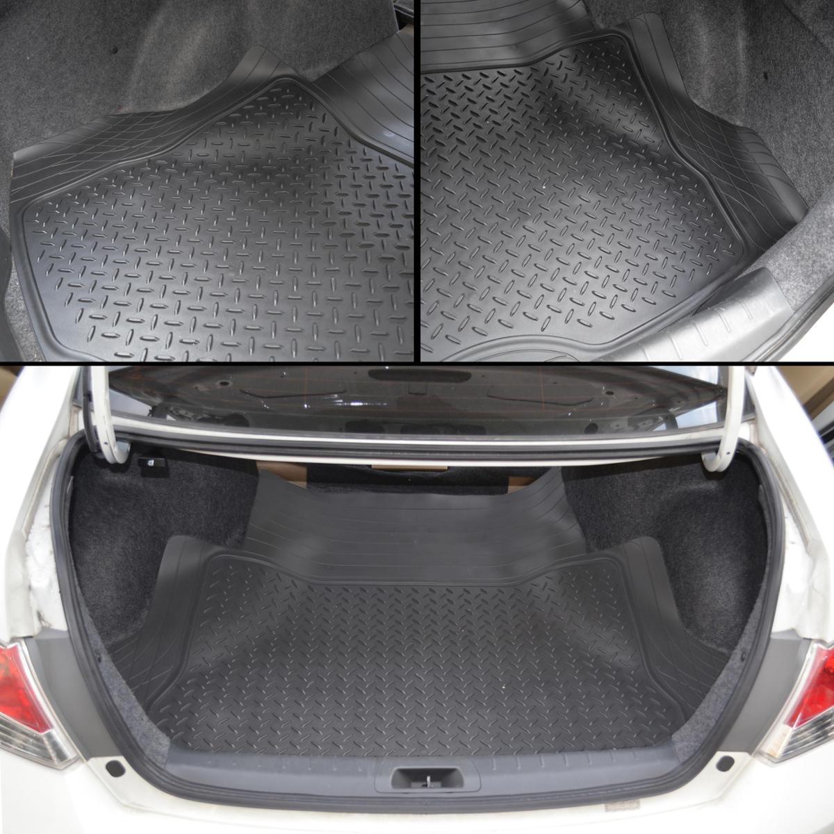 odor free cargo trunk liner mat for car van suvs trimmable rubber tough beige. Black Bedroom Furniture Sets. Home Design Ideas