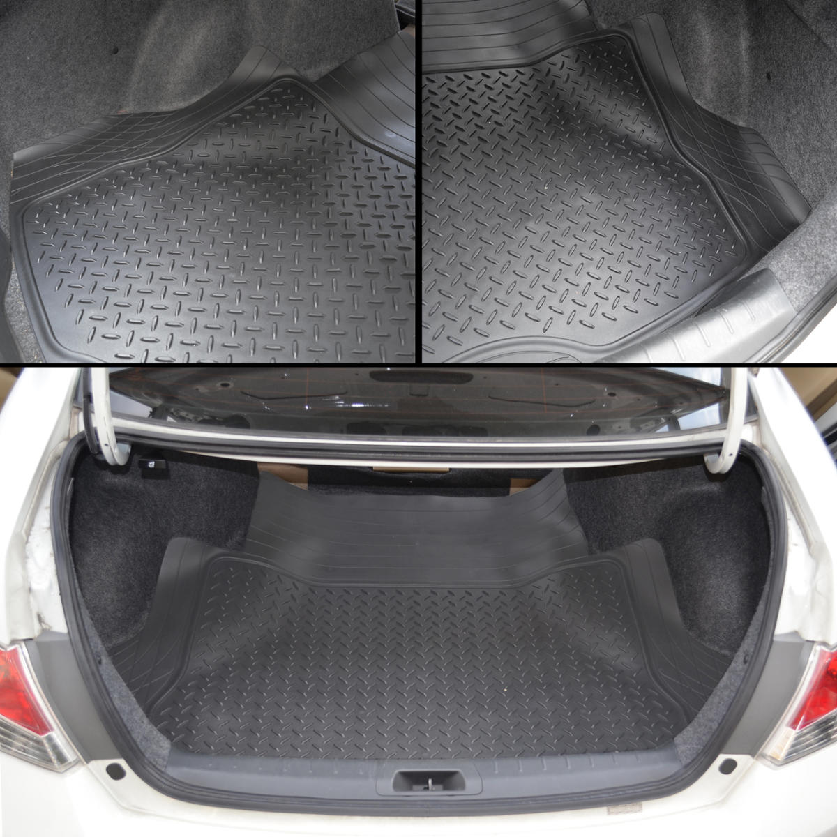 odor free cargo trunk liner mat for car van suvs trimmable rubber tough gray ebay. Black Bedroom Furniture Sets. Home Design Ideas