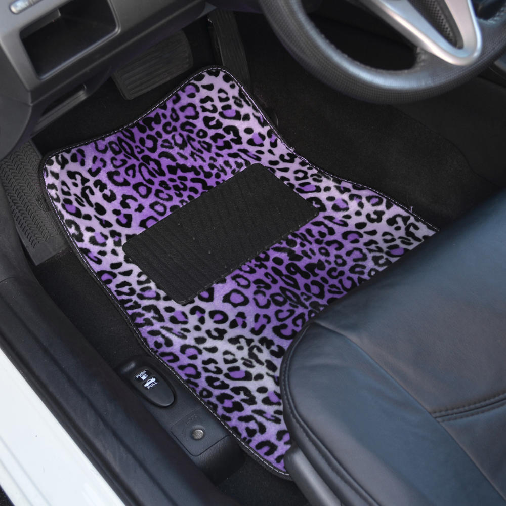 Supreme Leopard Purple 4 Piece Plush High Quality Car