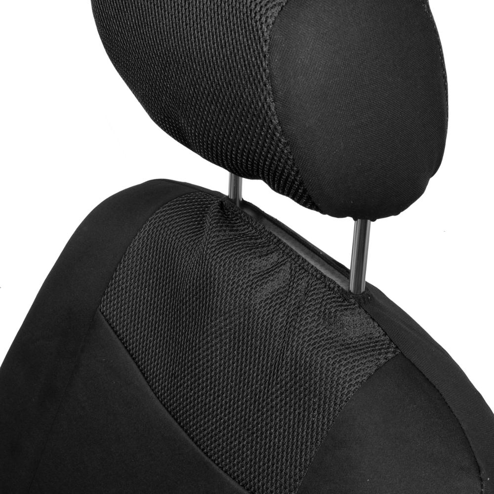 black mesh car seat covers cloth fabric full set auto accessories ebay. Black Bedroom Furniture Sets. Home Design Ideas