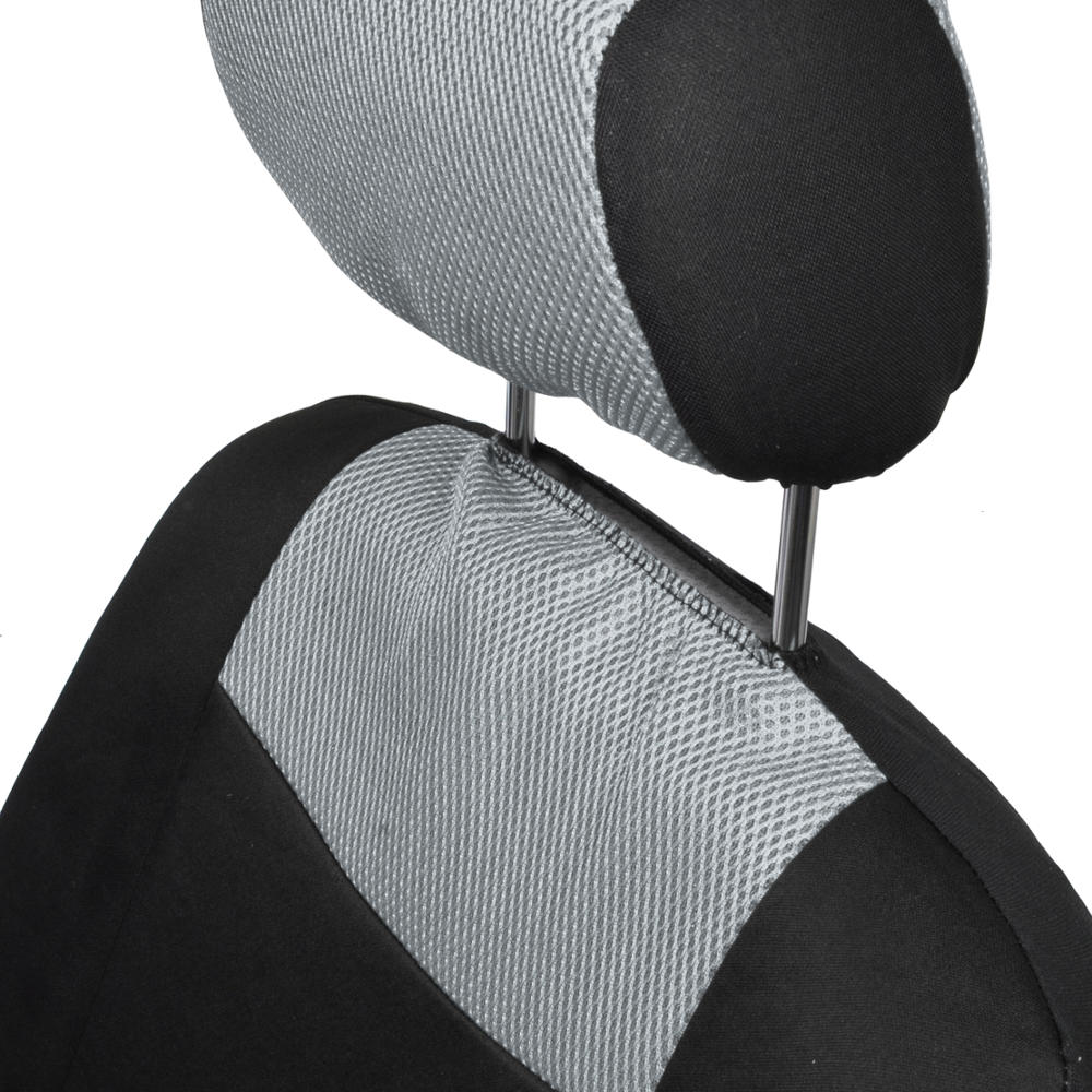 two color car seat covers black gray mesh accent auto accessories ebay. Black Bedroom Furniture Sets. Home Design Ideas