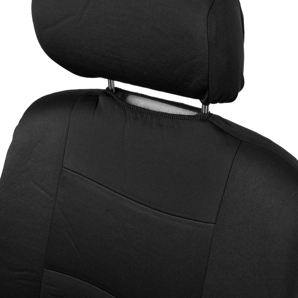 Black Full Set Deluxe Car Seat Covers W Rubber Sports