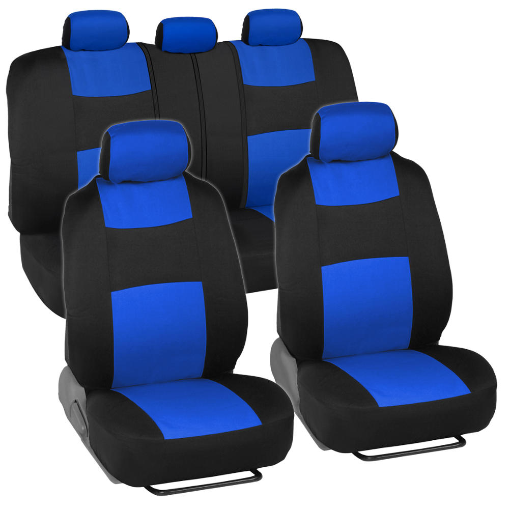 car seat covers for honda civic sedan coupe blue black split bench ebay. Black Bedroom Furniture Sets. Home Design Ideas