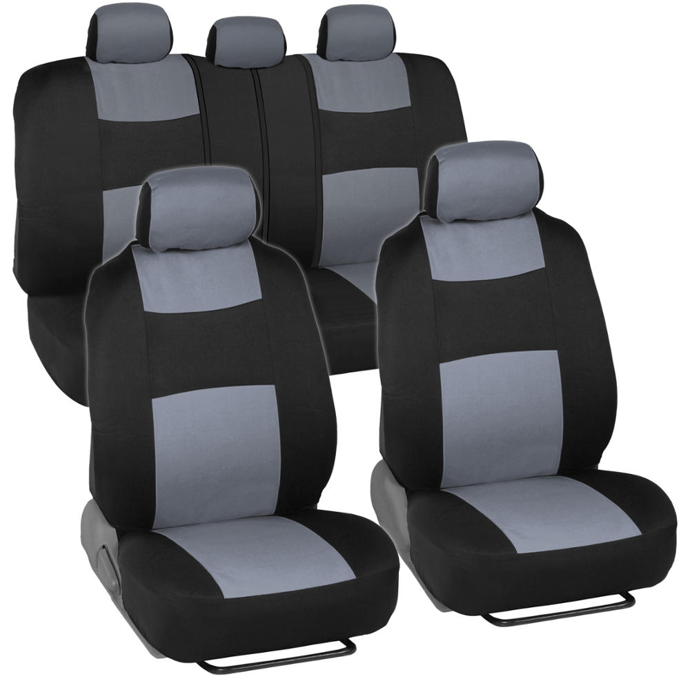 Split Bench Seat Covers ~ Car seat covers for honda civic sedan coupe grey black