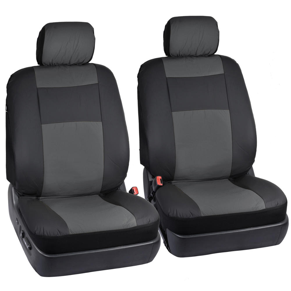 black gray synthetic leather seat covers for car suv auto steering wheel cover ebay. Black Bedroom Furniture Sets. Home Design Ideas