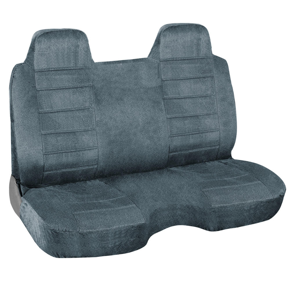 Charcoal Blue Regal Tweed Bench Seat Cover For Pickup