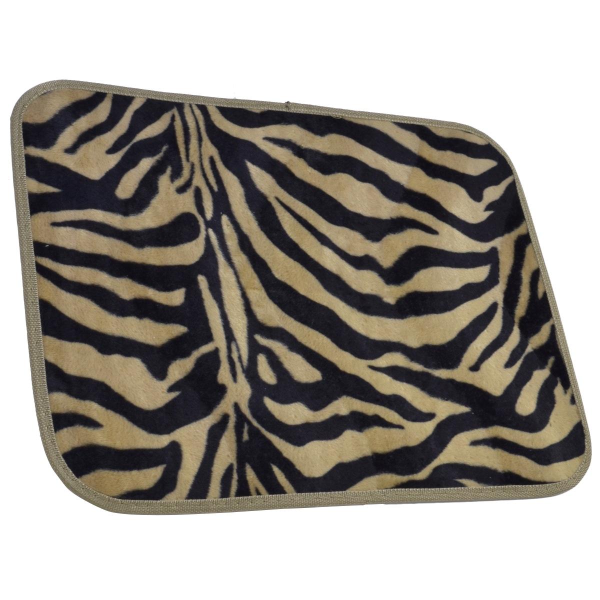 15pc Zebra Premium Animal Print Seat Covers And Front