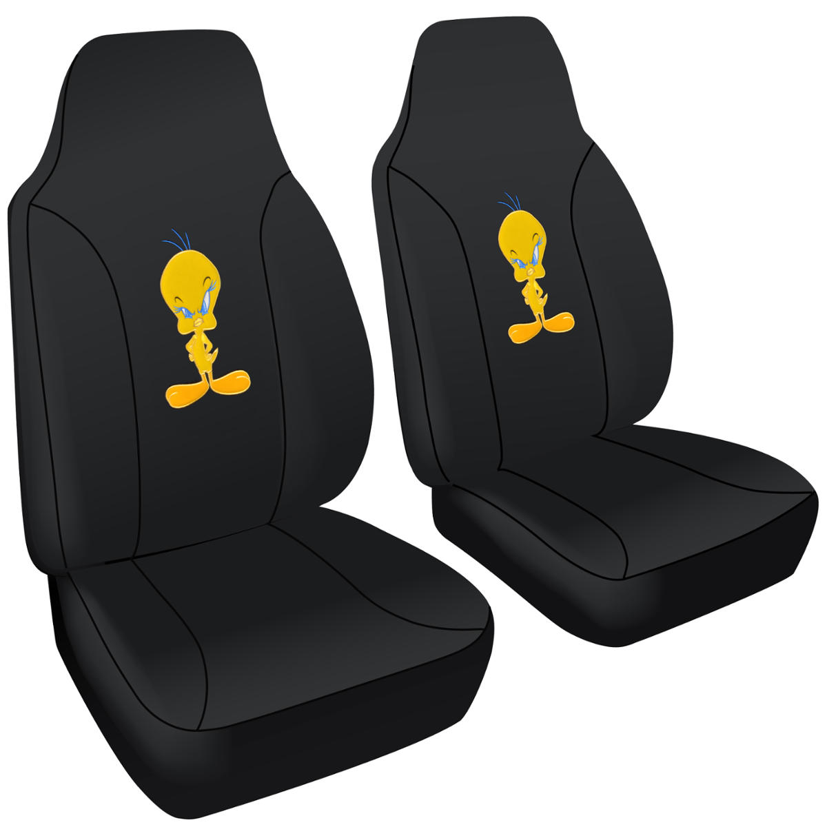 tweety bird car seat cover 2 front seat protection cover looney tunes highback ebay. Black Bedroom Furniture Sets. Home Design Ideas