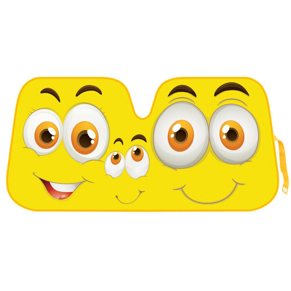Yellow Smiles Sunshade For Car Suv Truck Jumbo Folding Windshield