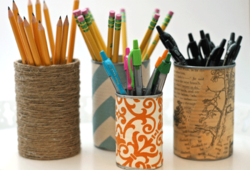 Filled-pencil-holders