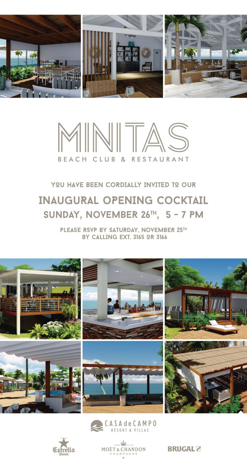 Minitas Beach Club invitation