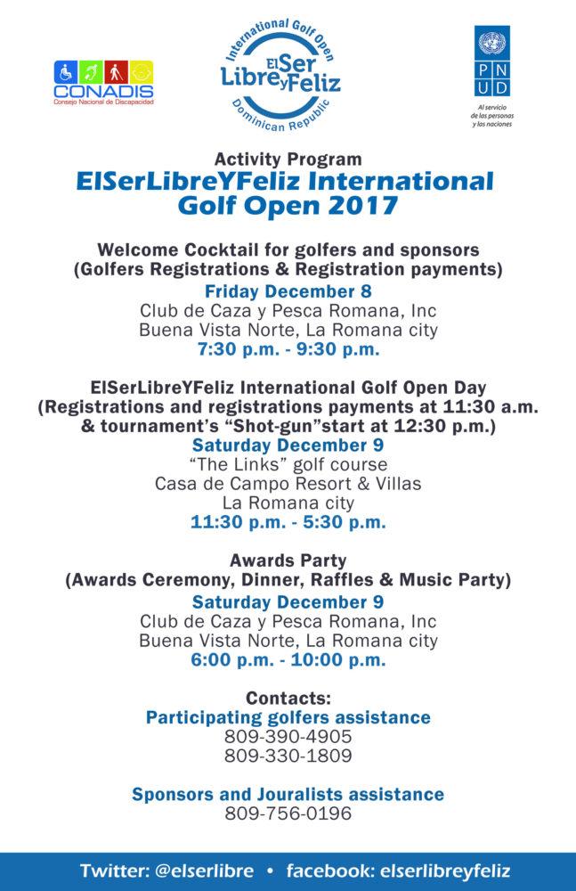 El Ser Libre y Feliz Golf Tournament program