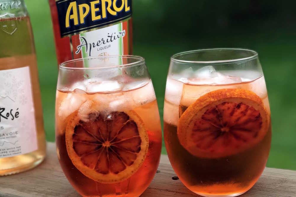 Rose-Aperol-Spritz