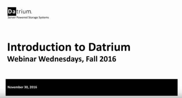 Introduction to Datrium – 11/30/16