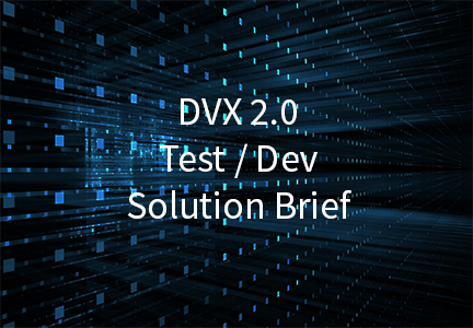 Test / Dev Solution Brief