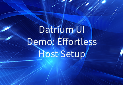 Datrium UI Demo: Effortless Host Setup