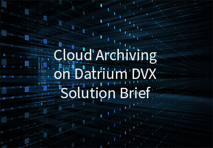 Cloud Archiving on Datrium DVX