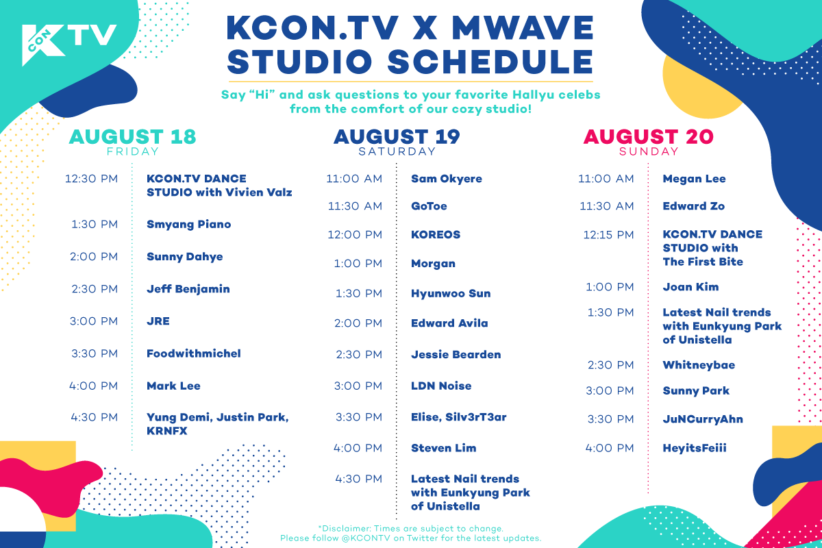 Meet Your Favorite Hallyu Celebrities at The KCON.TV x Mwave Studio This Weekend @ #KCON17LA
