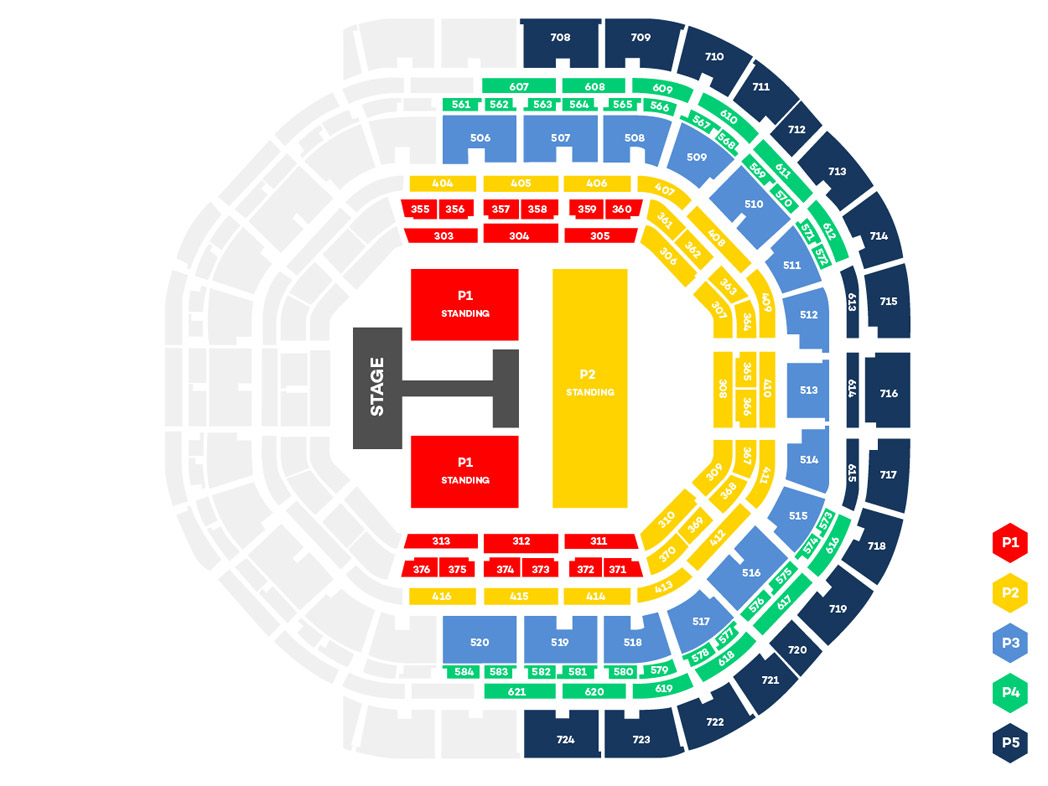 KCON 2017 MEXICO SEATING CHART