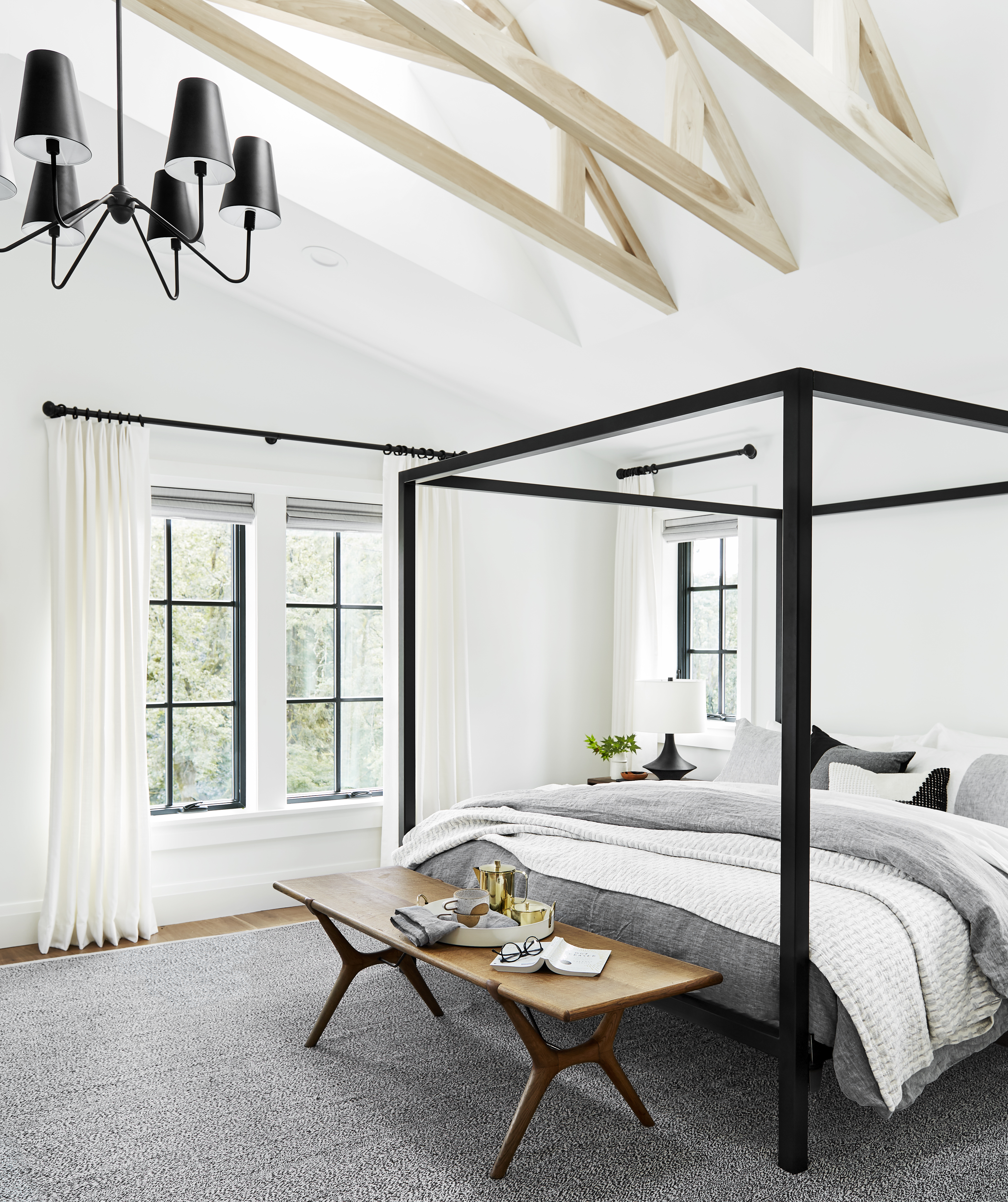 How to Make Your Bedroom Just a Little Bit Extra? Hang a Chandelier