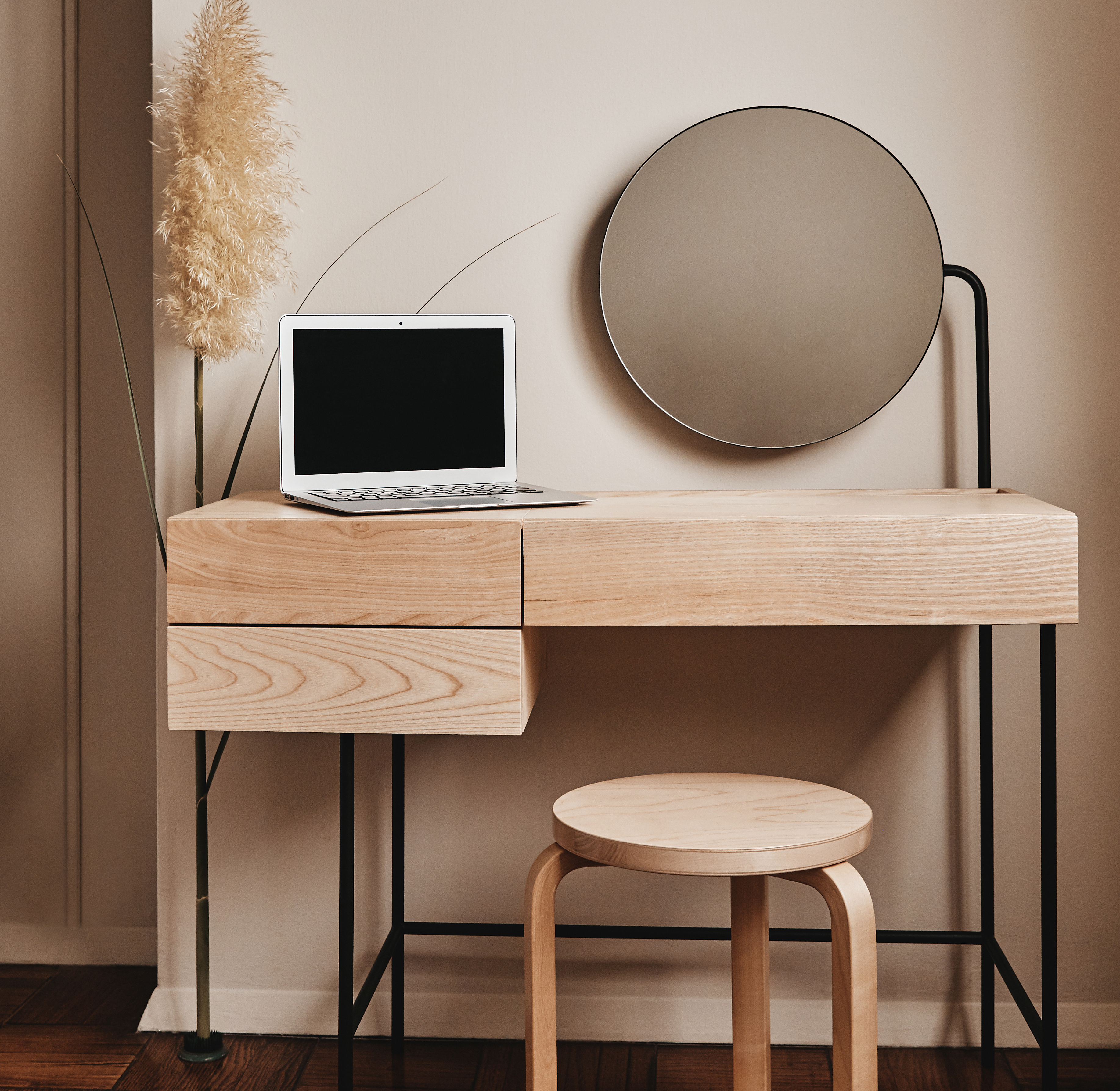This Minimalist-Chic Item Is a Vanity and Desk in One