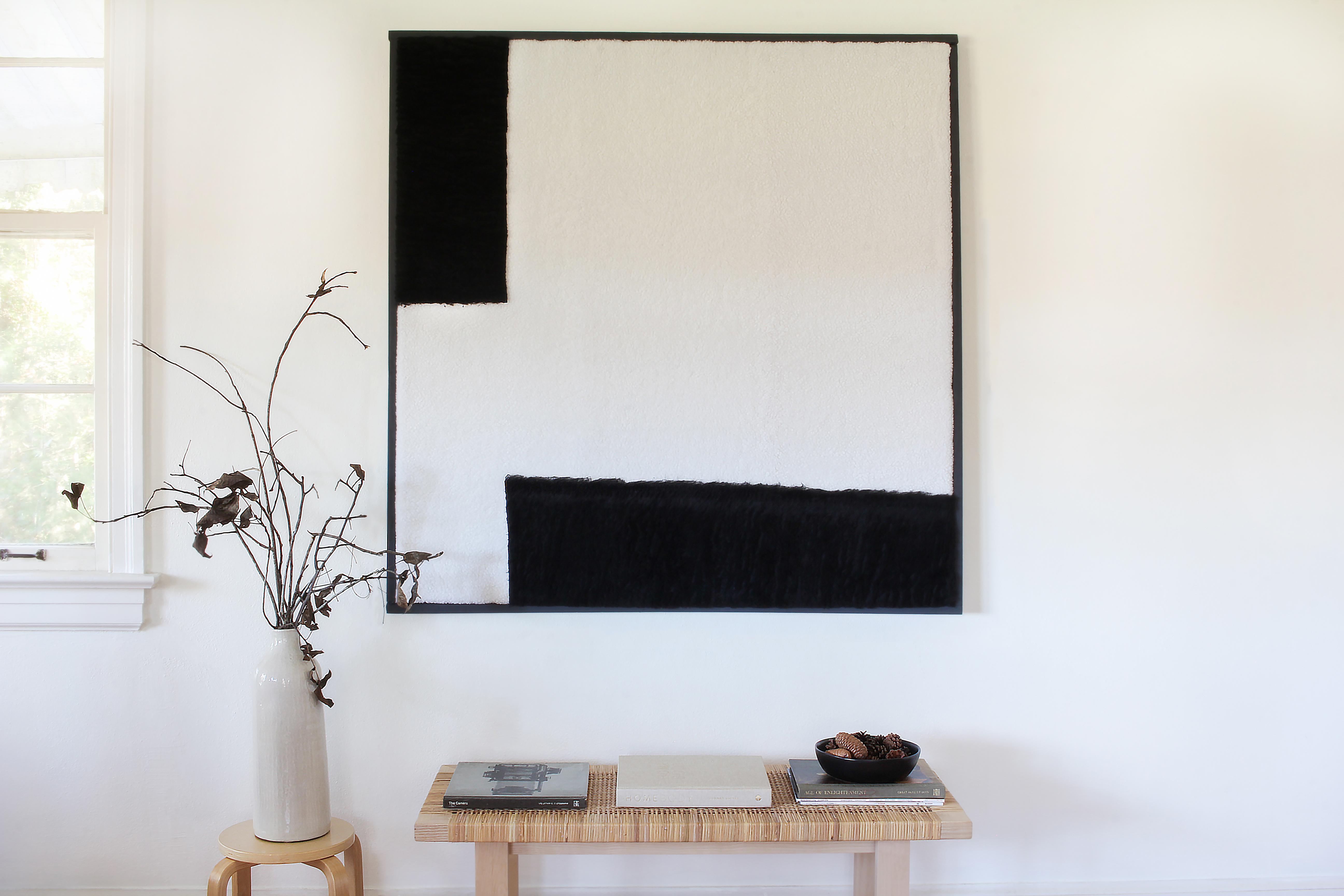 Oversize Textured Wall Art is Easy to Make When You Follow This Tutorial