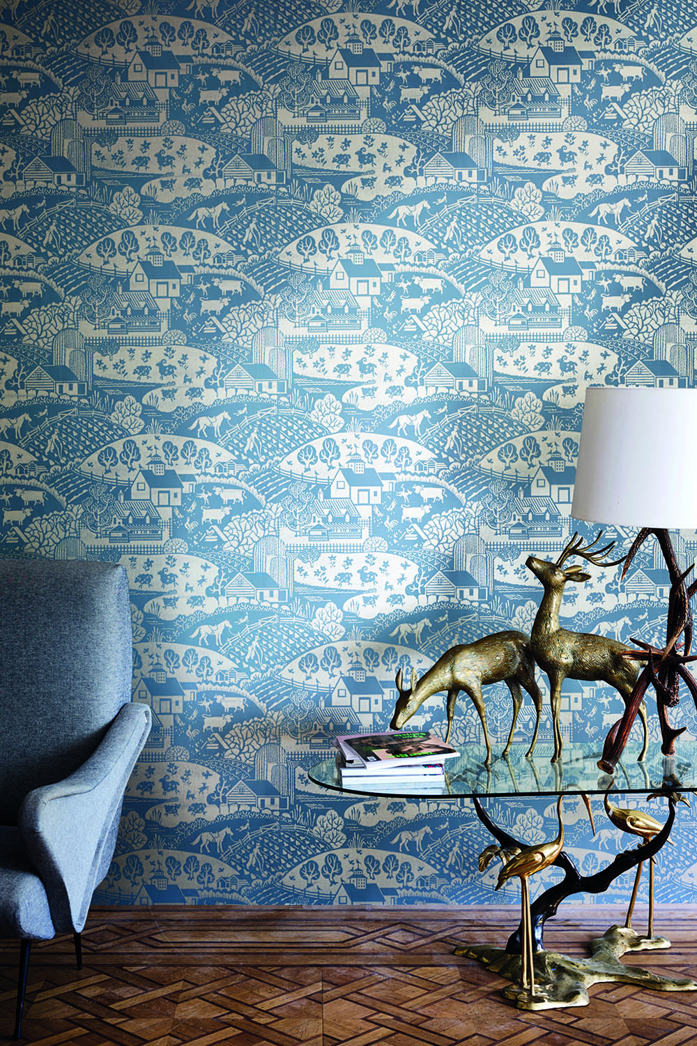 Farrow & Ball's New Wallpaper Line Is Old School Design-Meets-New School Colors