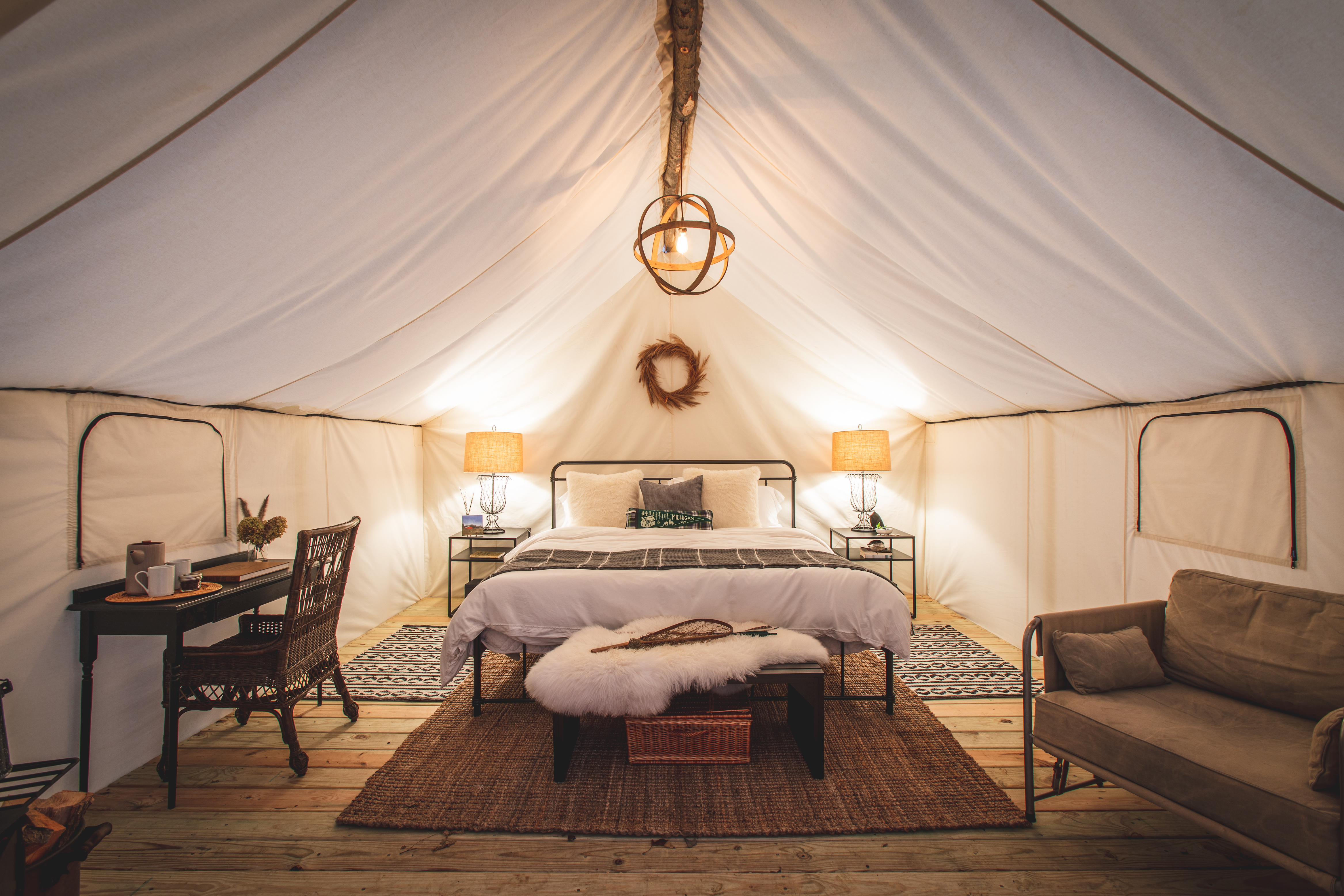 We're So There: This New Midwest Glamping Destination Offers Blueberry Picking