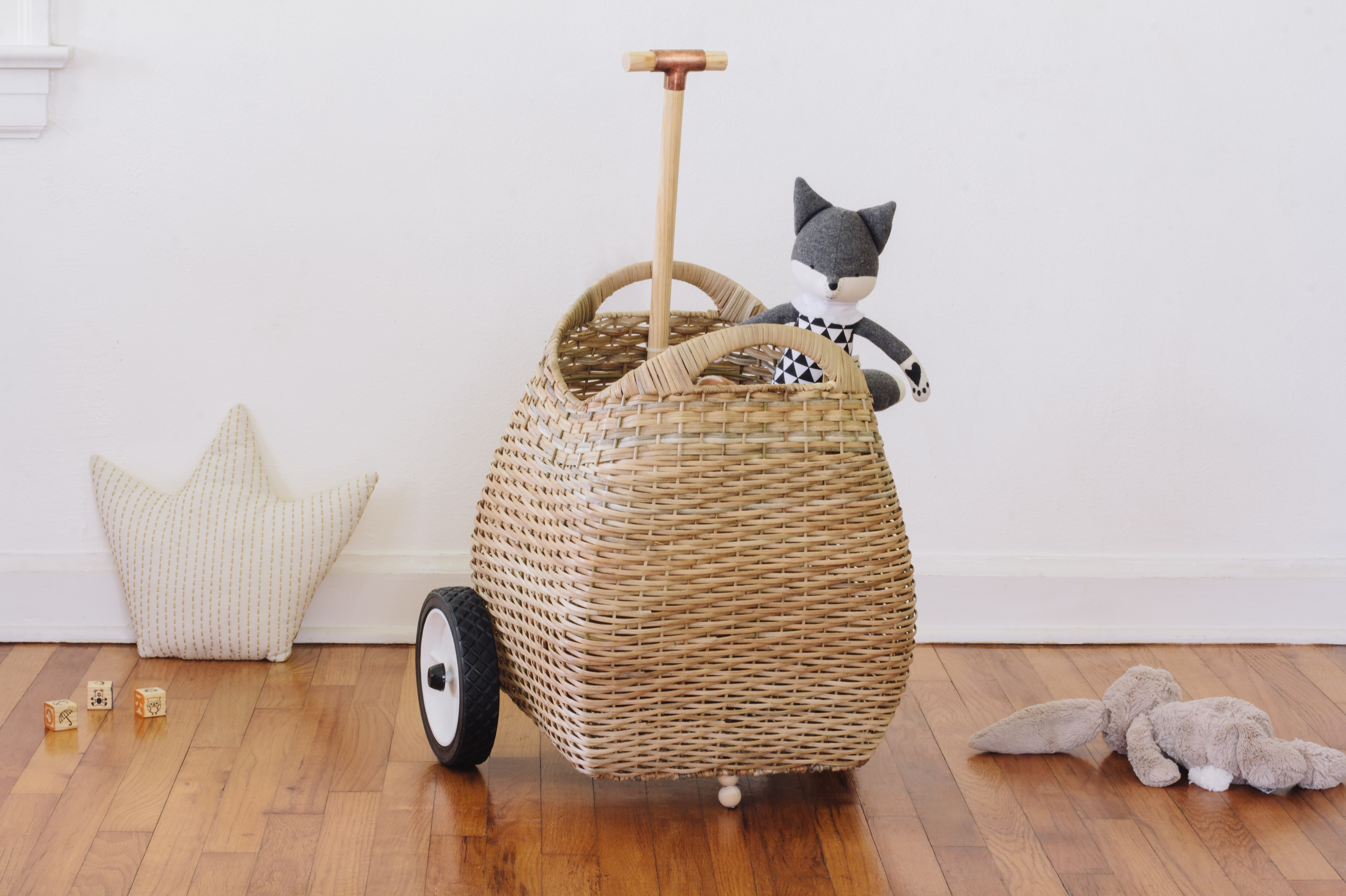 Turn Any Basket Into an Adorable Toy Trolley for Kids With This Easy Tutorial