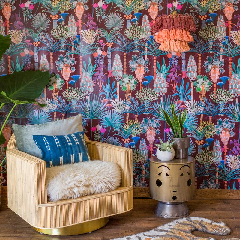Justina Blakeney's New Wallpaper Collection Is All About Bold Colors and Positive Vibes