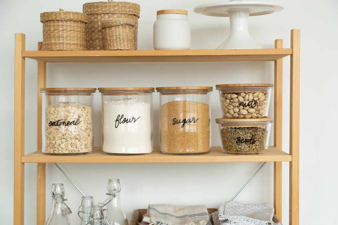 Create Beautiful, Hand-Lettered Labels on Glass Storage Jars