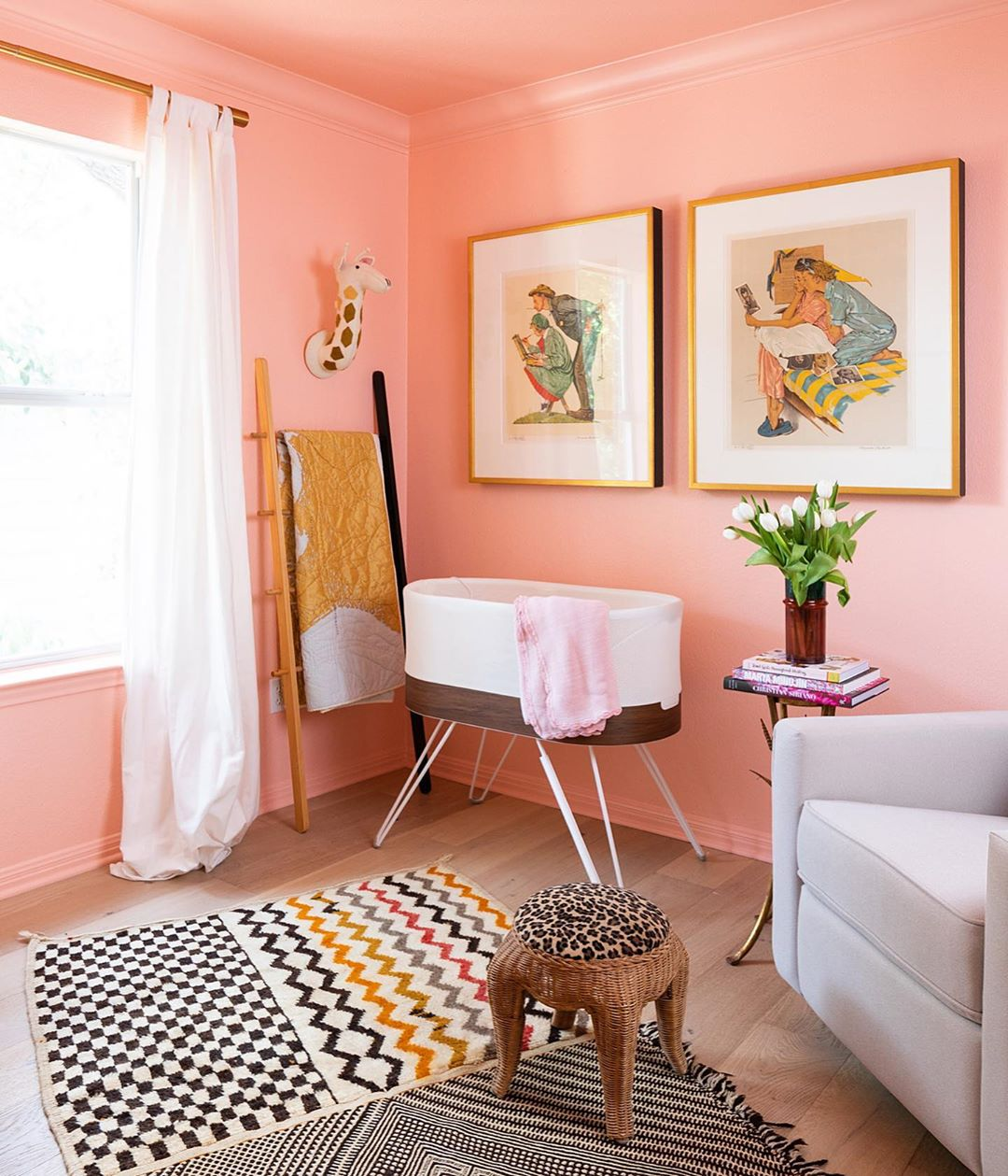 We're Swooning Over This Sunset-Hued, Retro-Inspired Nursery