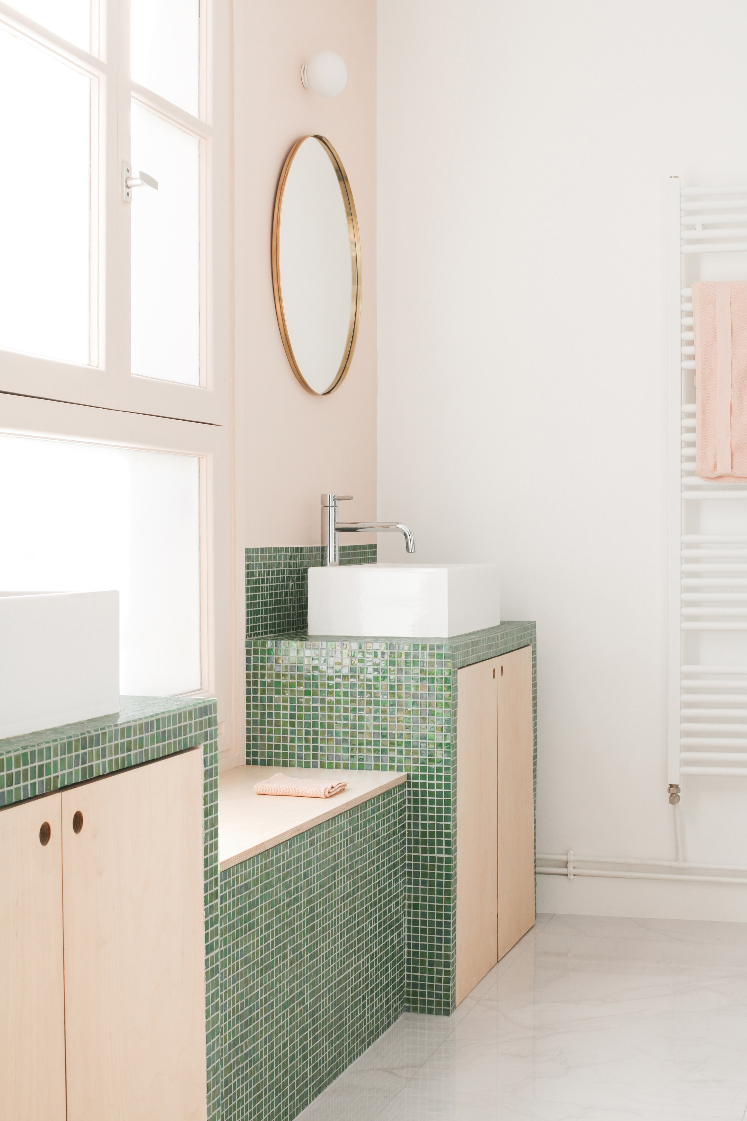 Live Life Dangerously, and Consider a Tile Bathroom Countertop Instead