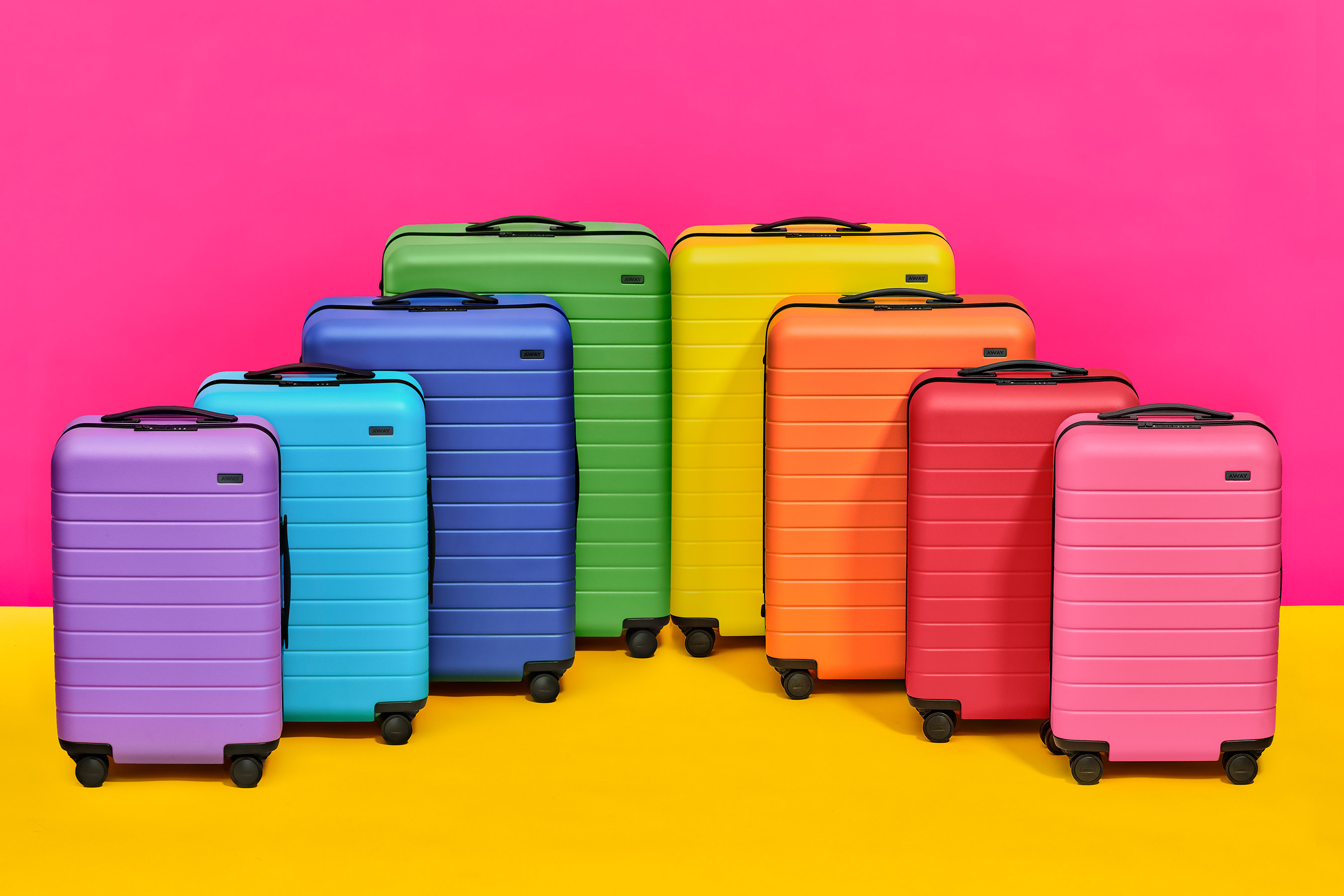 Away Luggage Just Launched the Rainbow Sprinkle Collection of Our Dreams