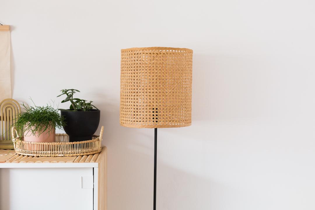 DIY Lampshade Using Cane Material