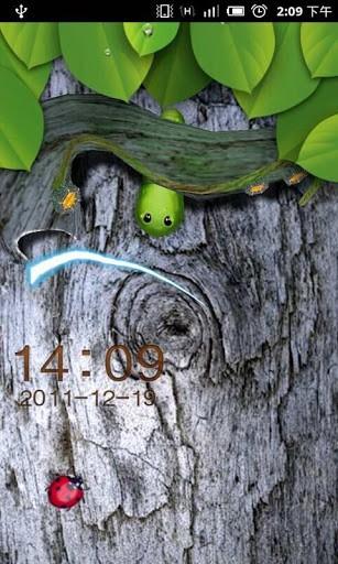 GO Locker 3D Worm Theme-Best Go Locker themes