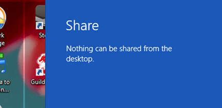 about windows 8 share
