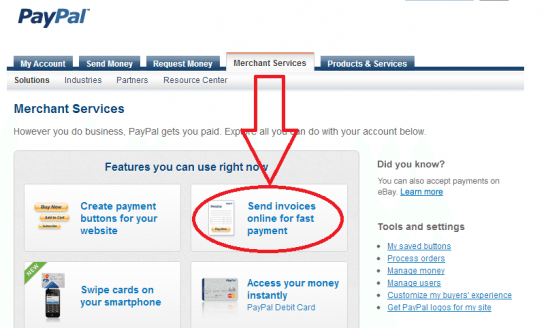 Create Invoices through PayPal