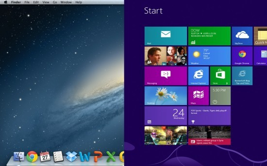 Mac OSX and Windows 8